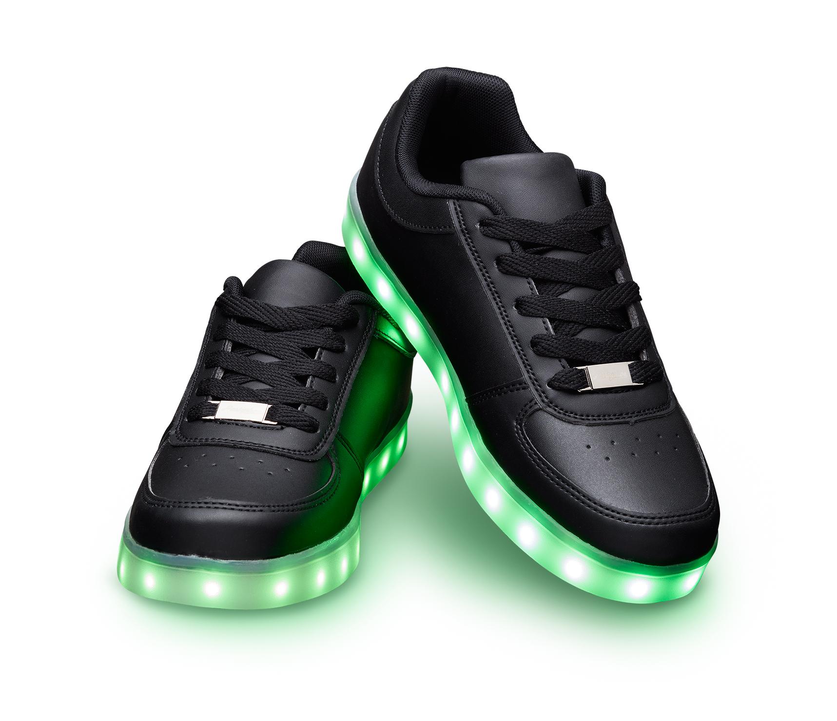 LED Shoes black - Partyshoe